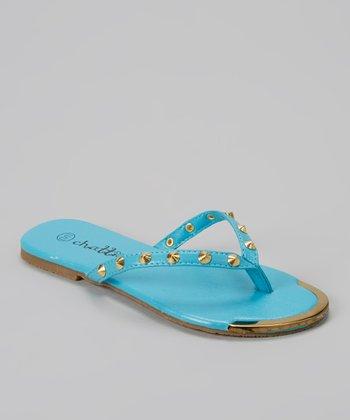 Chatties Turquoise Stud Flip-Flop