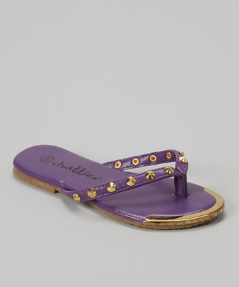 Chatties Purple Stud Flip-Flop