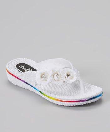 Chatties White Flower Flip-Flop
