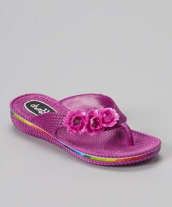 Chatties Purple Flower Flip-Flop