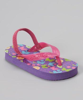 Chatties Purple Butterfly Sandal