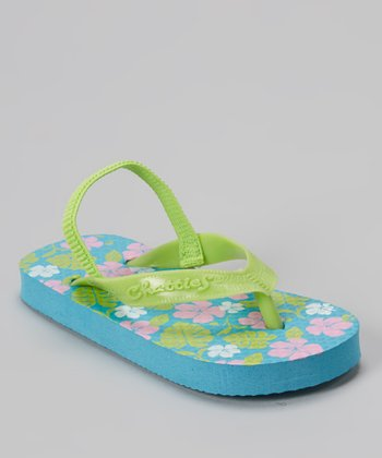 Chatties Turquoise Floral Sandal