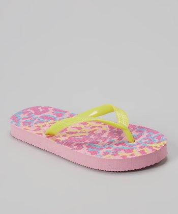 Chatties Citrus & Pink Leopard Flip-Flop