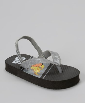 Chatties Black & Gray Basketball Sandal