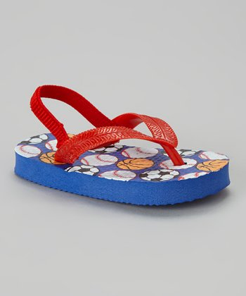 Chatties Navy & Red Sports Sandal