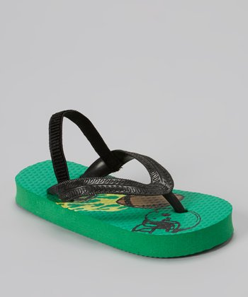 Chatties Green & Black Football Sandal