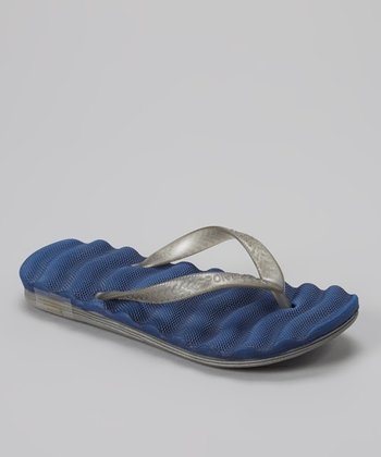 Empire Navy & Gray Cushion Flip-Flop