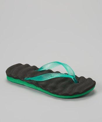 Empire Black & Green Cushion Flip-Flop