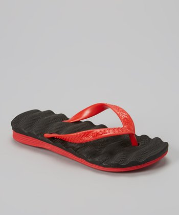 Empire Black & Red Cushion Flip-Flop