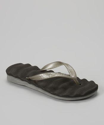 Empire Black & Gray Cushion Flip-Flop
