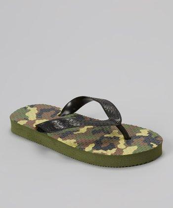 Empire Olive & Black Camo Flip-Flop