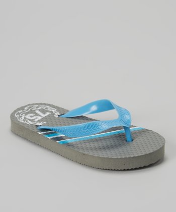 Empire Gray & Blue '75' Flip-Flop