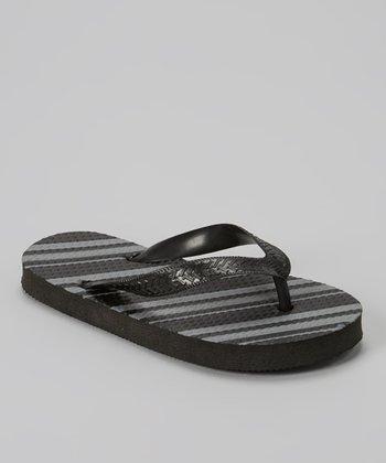 Empire Black Stripe Flip-Flop
