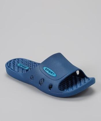 Shocked Navy & Light Blue Comfort Sport Slide