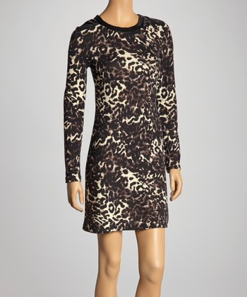Black & White Leopard Shift Dress