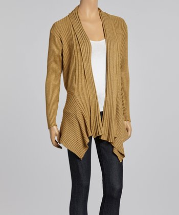 Gold Stripe Open Cardigan
