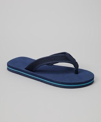Empire Navy & Blue Mesh Strap Flip-Flop