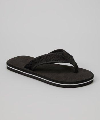 Empire Black & White Mesh Strap Flip-Flop