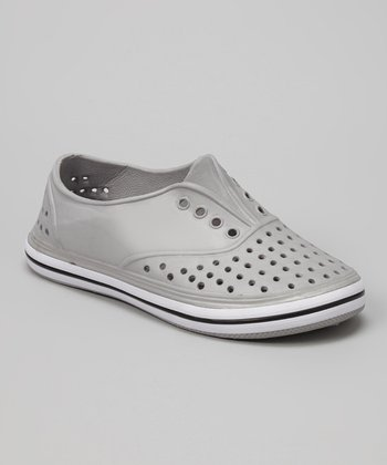 Chatties Gray Perforated Slip-On Sneaker