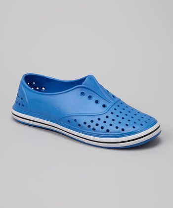 Chatties Cobalt Perforated Slip-On Sneaker