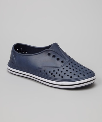 Chatties Navy Perforated Slip-On Sneaker