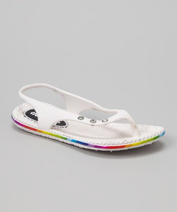 Chatties White Slingback Flip-Flop