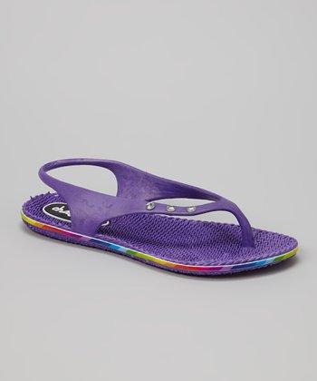 Chatties Purple Slingback Flip-Flop