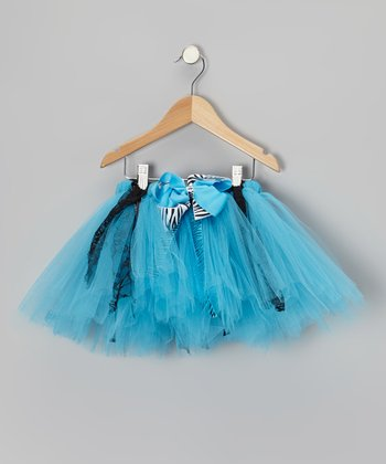 Turquoise & Black Emily Tutu - Toddler & Girls