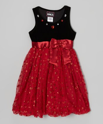 Black & Red Tulle Dress - Toddler & Girls