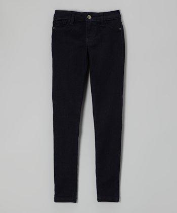 Pink Hearts Black Indigo Skinny Jeans