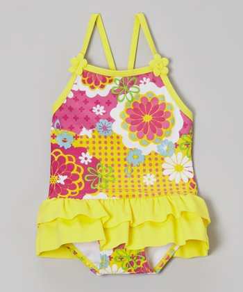 Yellow Daisy Frances Skirted One-Piece - Infant