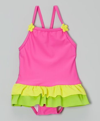 Hot Pink Mania Frances Skirted One-Piece - Infant