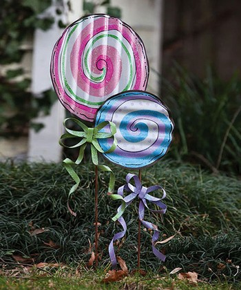 Candy Land Lollipop Garden Stake Set