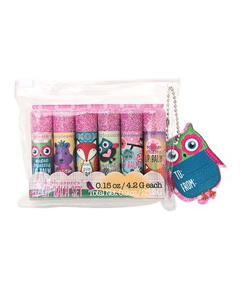 Woodland Friends Glitter Lip Balm Set