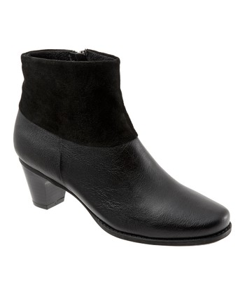 Black Leather Darla Ankle Boot