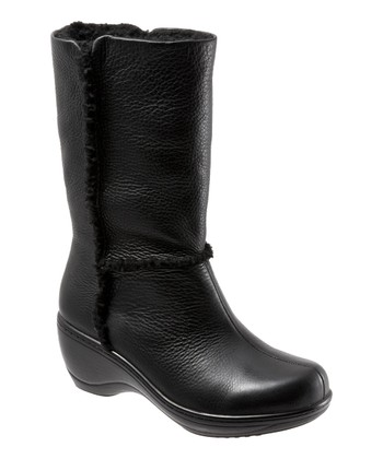 Black Leather Manistee Boot