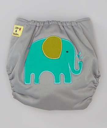 Gray Elephant Pocket Diaper