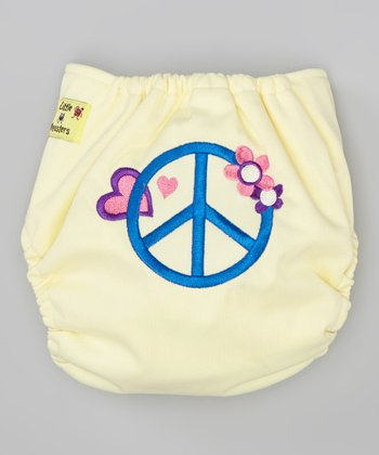 Yellow Peace Pocket Diaper