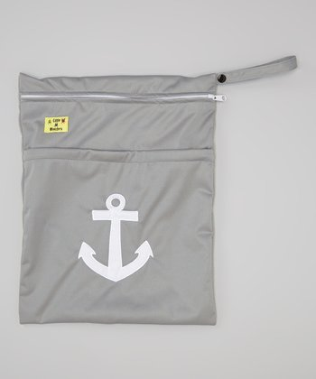 Gray Anchor Wet Bag
