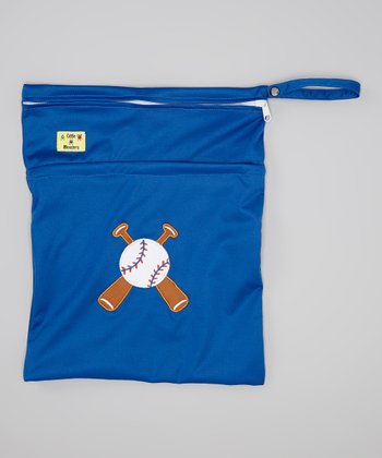 Blue Baseball Wet Bag