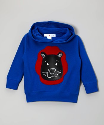 Blue Lion Chalkboard Pullover Hoodie - Toddler & Boys