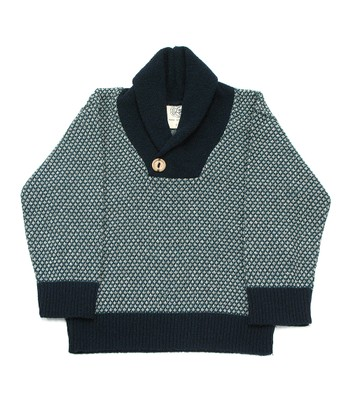 Teal Charmer Shawl Collar Pullover - Infant, Toddler & Boys
