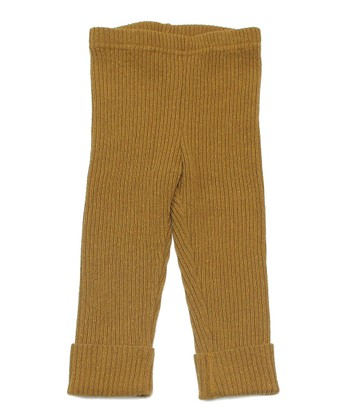 Mustard Ribbed Fancy Pants - Infant, Toddler & Kids