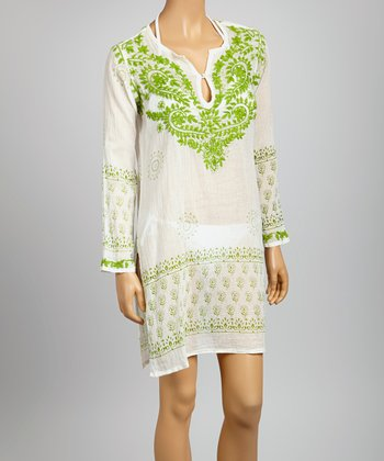 Green Embroidered St. Tropez Tunic