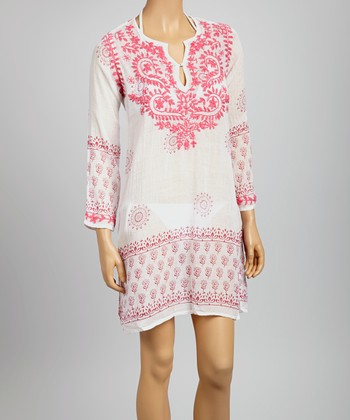 Pink Embroidered St. Tropez Tunic - Women
