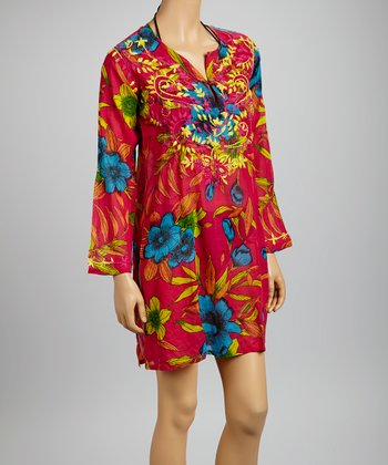 Fuchsia Banana Flower Tunic - Women