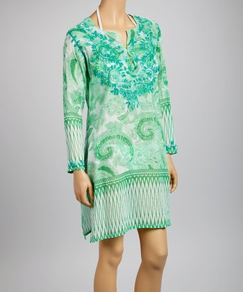 Teal Paisley Tunic - Women