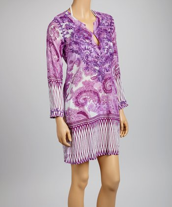 Purple Paisley Tunic - Women