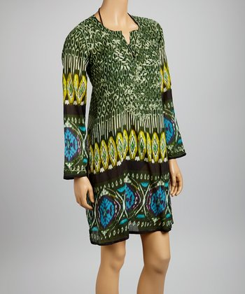 Green Ikat Tunic - Women