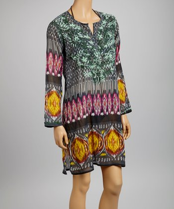Black Ikat Tunic - Women